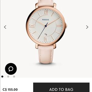 Fossil Jacqueline Date Blush Leather watch